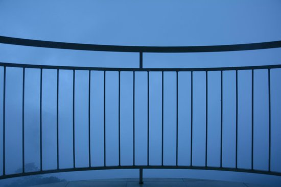 Deshadan Mountain Resorts: Balcony view in the mist...