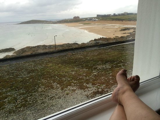 Fistral Beach Hotel and Spa: view from hotel