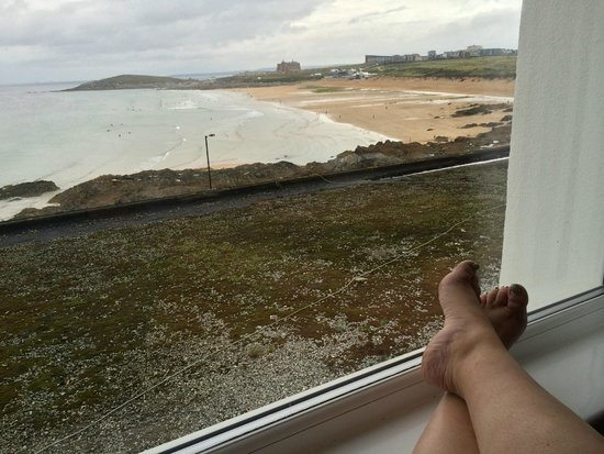 Fistral Beach Hotel and Spa: View from room