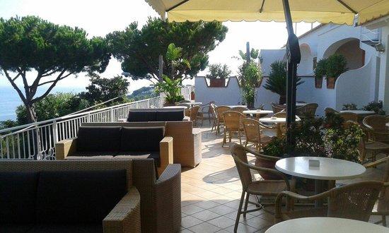 Poggio Aragosta Hotel & Spa: Terrazzo vicino alla hall