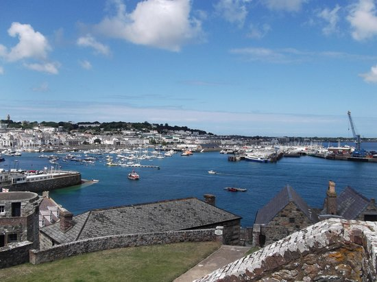 Castle Cornet: view from the top of the castle