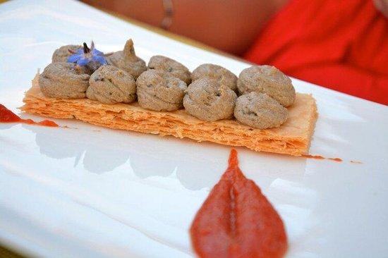 Restaurant le Laurier : Aubergine en entrée