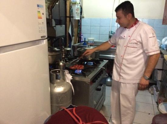 Sofra Restaurant: chef at work - freshly prepared