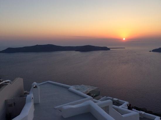 Langas Villas: sunset