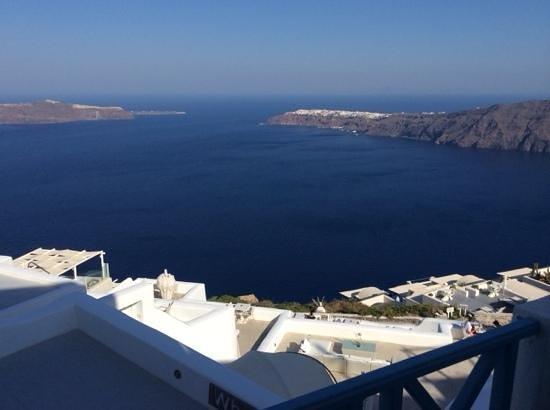 Langas Villas: balkonzicht