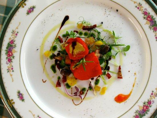 Trattoria della Posta : Paprika med tonfiskkräm.