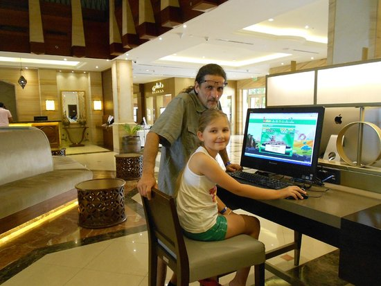 Hilton Al Hamra Beach & Golf Resort: 24H Computer 4 Stück
