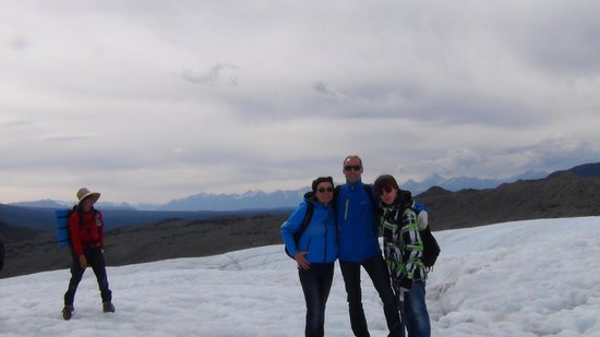 St. Elias Alpine Guides Day Adventures: Rootglacier, my husband Ton, our son Ramon and me (Ada Ouwehand)