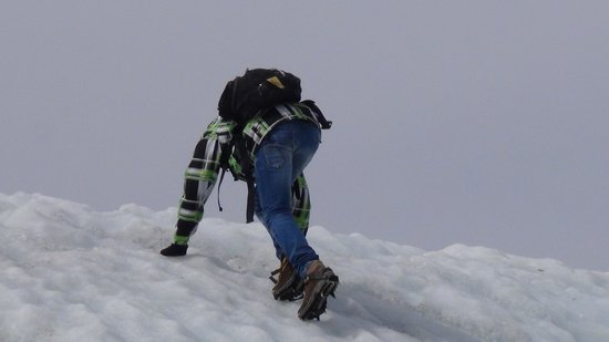 St. Elias Alpine Guides Day Adventures: There was even time to do some Glacier-climbing for our son Ramon