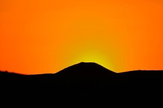 Baron Palace Sahl Hasheesh : sunset mot fjellene