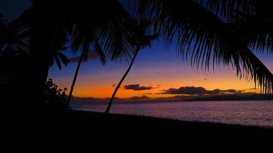 Aroha Taveuni: sunset from deck