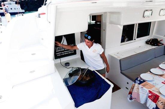 Spiridakos Sailing Cruises: cooking on Board
