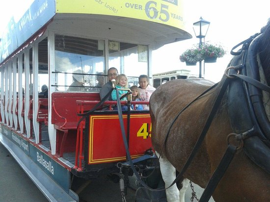 Douglas Bay Horse Tramway : Going for a ride.