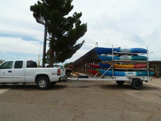 Hidden Canyon Kayak: départ avec les kayak de Page