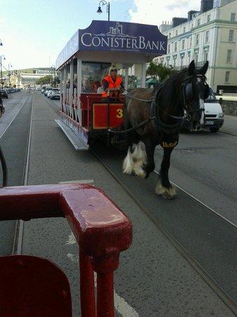 Douglas Bay Horse Tramway : Along the prom.