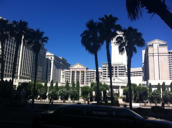 Caesars Palace: View from the strip