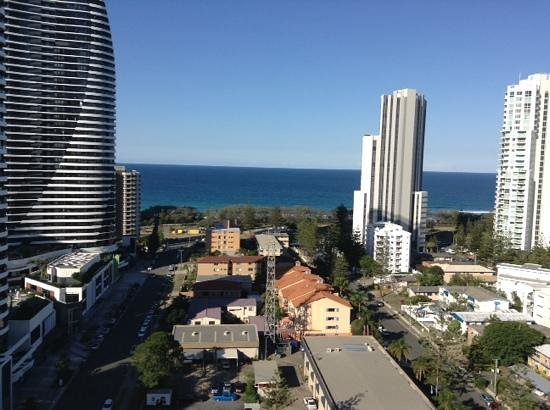 Meriton Suites Broadbeach: view from our balcony
