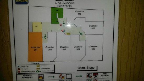 Best Western Aurore : plan de l'étage