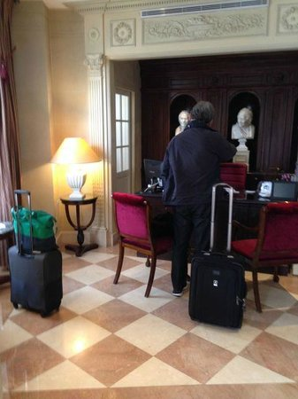 Hotel des Grands Hommes: Hotel´s reception
