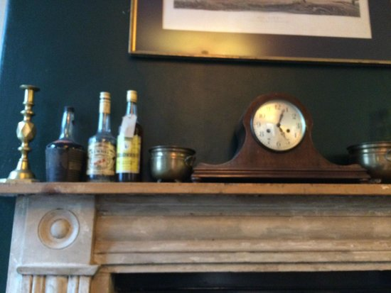 Soho's Secret Tea Room: on top of the fire place