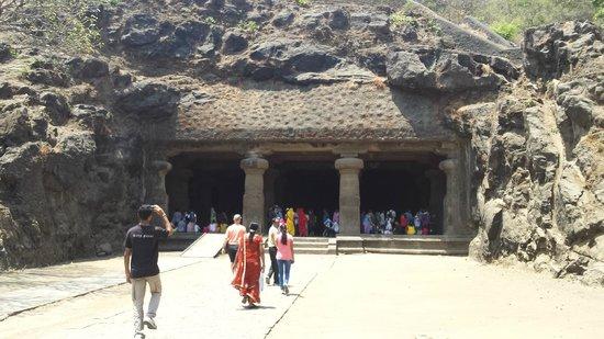Elephanta Caves: Main cave entrance