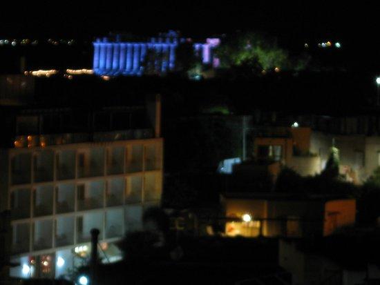 Hotel Admeto : serata di gala tempio di hera - dal terrazzo dell'hote