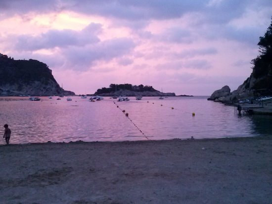 Hotel Olé Galeón Ibiza: tramonto dalla spiaggia