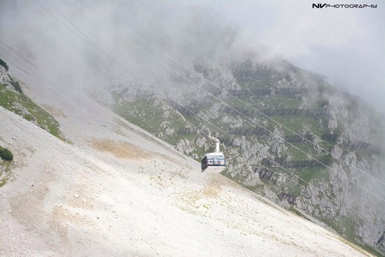 Hungerburgbahn in Innsbruck: Breathtaking view from Seegrub. Telepherique from Seegrub to Hafelkar