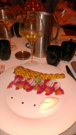 La fleur de Sel : rosace de saumon norvegien label rouge fumé crème légère au raifort