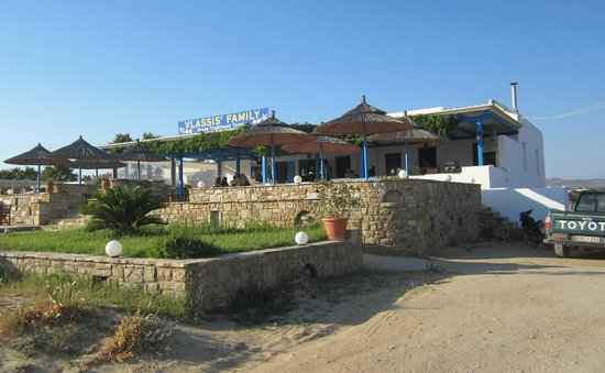 Vlassis' Family: Frontage faces the beach