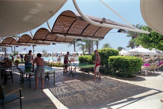 Constantinou Bros Athena Beach Hotel: Hotel terrace