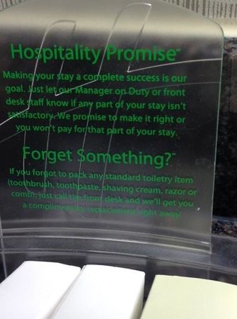 Holiday Inn Washington - Capitol: hospitality Promise