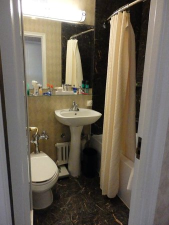 Boston Park Plaza: Bathroom - very small but adequate