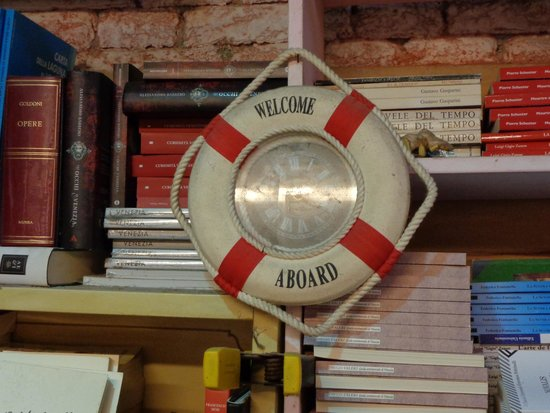 Libreria Acqua Alta: the shop is themed