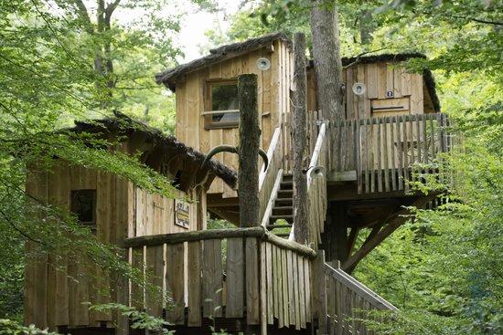 Parc Animalier de Sainte-Croix - Hébergements : vue étage