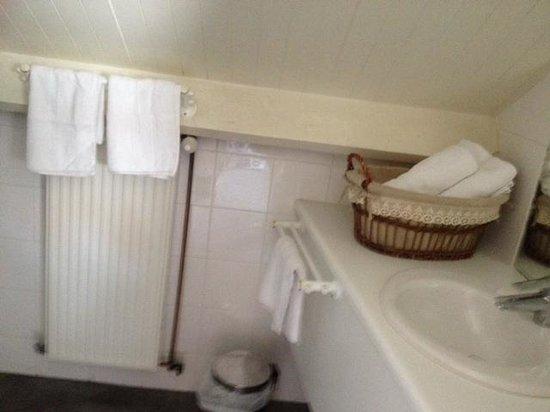Be Cottage : le lavabo de la salle de bain, j'ai oublié la photo de la baignoire