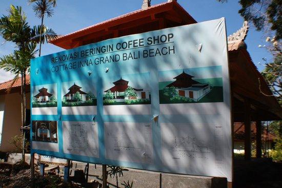 Inna Grand Bali Beach Hotel : plans for coffee shop