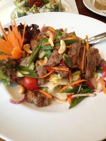 O-Sha Thai-Restaurant: rindfleischsalat. perfekt