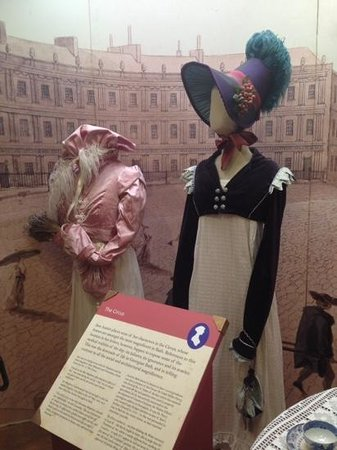 The Jane Austen Centre : Some costumes on display