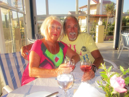 Ammes Apartments: In the wonderful 'O Milos' restaurant