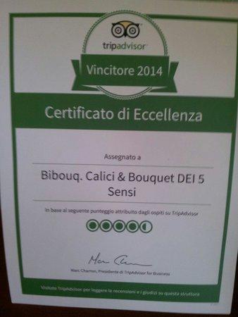 Bibouq Calici & Bouquet dei 5 Sensi : Grazie!