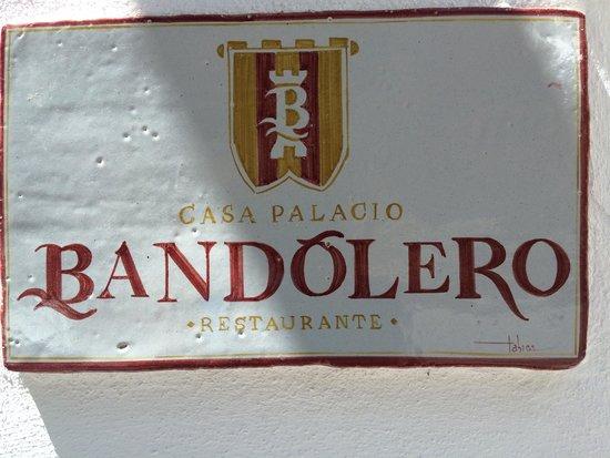 Restaurante Casa Palacio Bandolero: Entrada