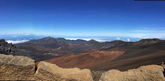 Haleakala Crater: view of landcape with cinder cones