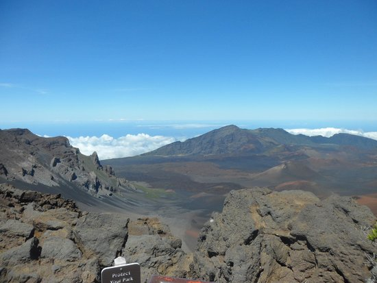 Haleakala Crater: above the clouds