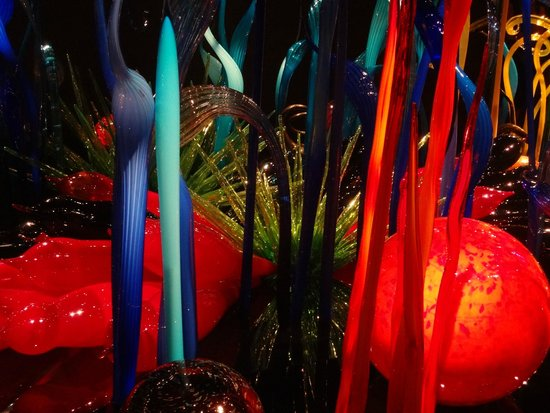 Chihuly Garden and Glass : part of a large, floor level exhibit