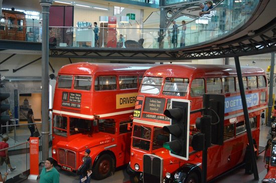 London Transport Museum : Only two arrived at the same time!
