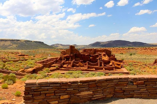 Wupatki National Monument: Main Pueblo behind the visitors center