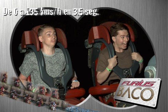 PortAventura Park: Ciaran and Alex on the furius Baco