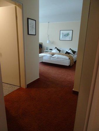 Hotel Deutscher Hof: View from door.  Toilet room is to the left