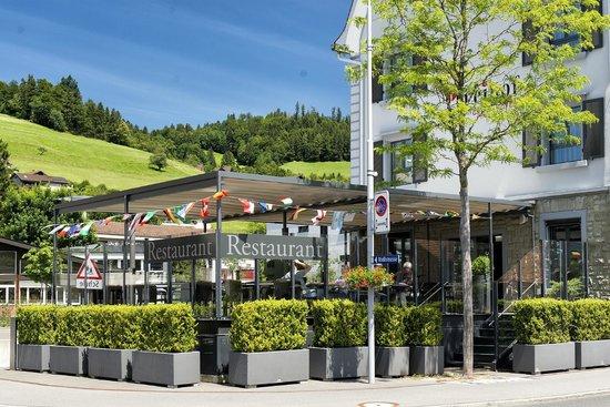 Hotel Freihof: Terrasse